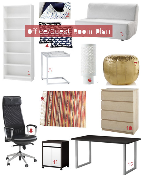office guest room furniture plan