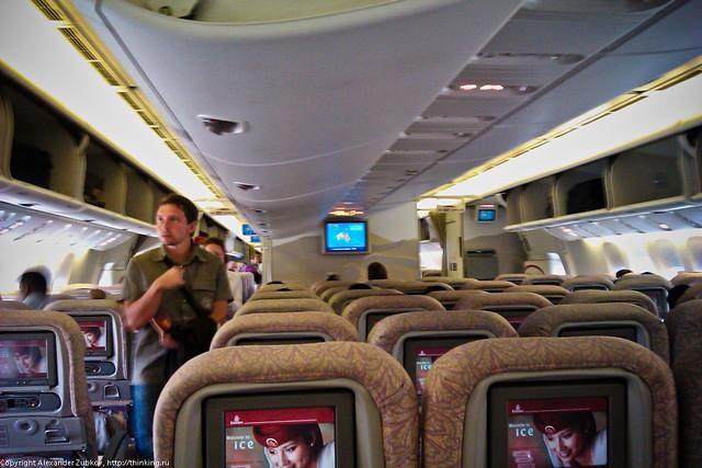 В самолете Emirates