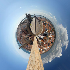 Planet Saintes-Maries-de-la-Mer (jankor) Tags: panorama geotagged 360 planet stitched 360 360degree littleplanet 360grad planetepanoramique geo:lat=43451559 geo:lon=4427817