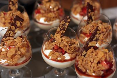 strayberries in cornflack