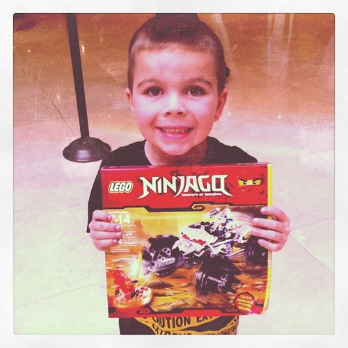 Project 365 69/365: Woot! Angry Kid won a Ninjago kit at the brand new Lego store in a trivia contest.