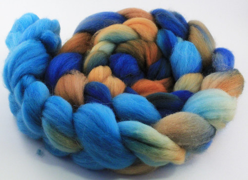 Toffee Sky painted roving 3oz