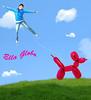 The Balloon Girl !  - Ella Globo ! :) (Delire Lucide) Tags: blue sky dog girl animal azul photomanipulation de nikon foto chica evelyn cuento surrealism balloon ella perro fairy fantasy cielo montaje tale globo hadas manipulación fantasía delire lucide surealismo laoun