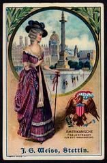 German Tradecard - American Costume & Scenes (cigcardpix) Tags: newyork vintage advertising ephemera tradecards