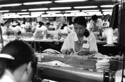 young workers making Keds