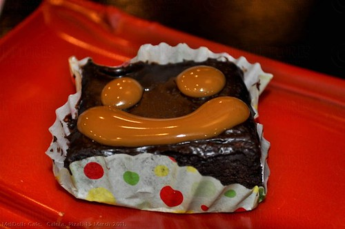 happy caramel brownie