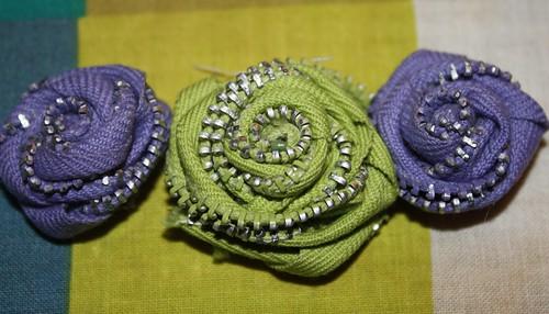 zipper rosettes