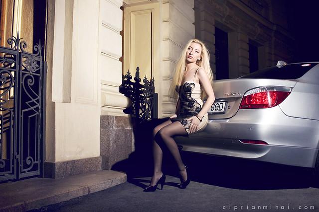 girl car babe romania bmw 530 e60 ciprianmihaicom