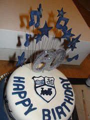 60th Birthday cake for Music Teacher (Ange's Cakes (Peterborough)) Tags: birthday two music cake note 60th tier