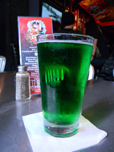 St. Patty's Day green beer