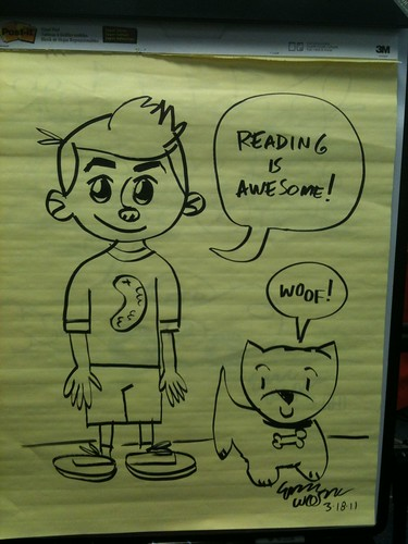 """Reading is Awesome"" -Frankie Pickle 3/18/11"