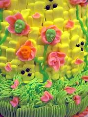 Barbie skull cake detail (Pinwheel Bakery) Tags: cake skull barbie custom