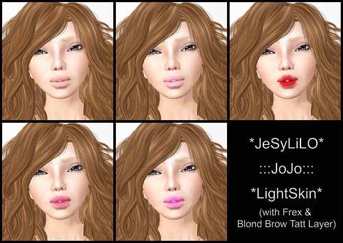 JeSyLiLO JoJo LightSkin (Frex) & Blond Brow Tatt Layer