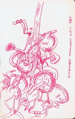 Portland Sketchcrawl - Zoobomber monument