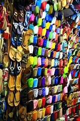 Theses shoes were made for walking.Old Medina,Marrakech,Morocco (Dublin.Linda) Tags: travel shoes morocco marrakech marketstalls citymedina