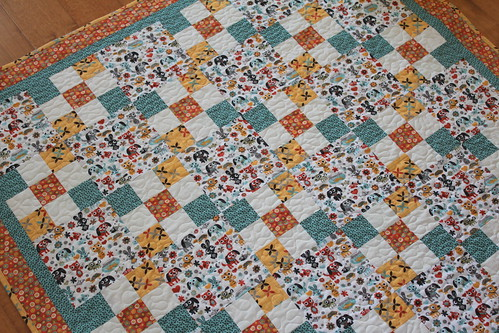 Max and Whiskers baby Quilt Front