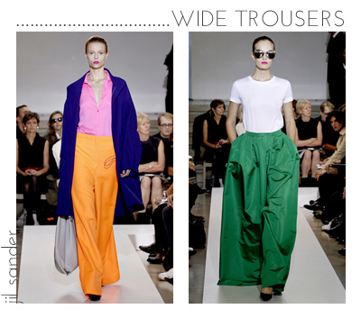 2 wide trousers