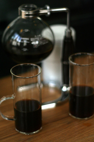 siphon pot served