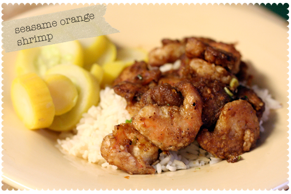 Sesame Orange Shrimp