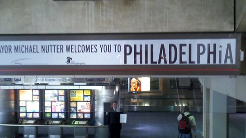 Philly arrival at airport