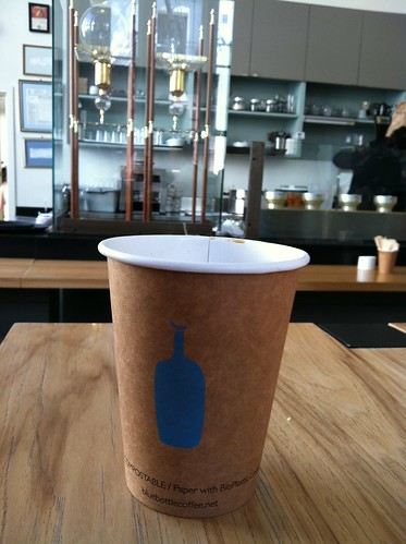 New Orleans style coffee at Blue Bottle Coffe