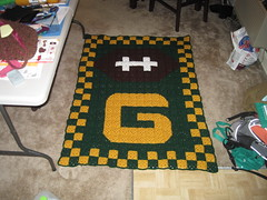 Crochet Pattern Green Bay Packer Afghan : Ravelry: Green Bay Packers Granny Square Afghan pattern by ...