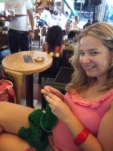 knitting in public
