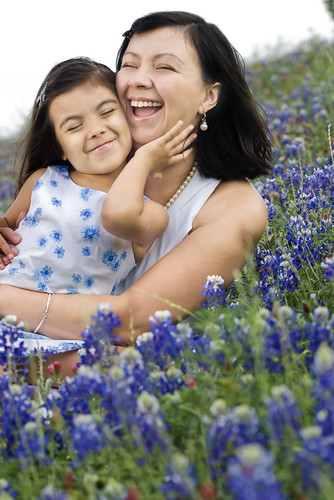 The Family and the Bluebonnets - Paola and Carol by killy