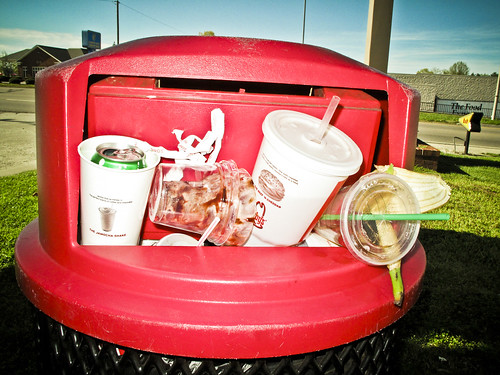 trash at sonic burger