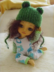 This little froggy is tired... (Mitilene - Dolls are good!) Tags: yellow set outfit tshirt frog clothes chan fm froggy fa adoption pajama pijama fee mui puki romper lati leggins pukifee