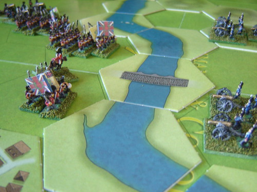 French batteries lay into advancing British
