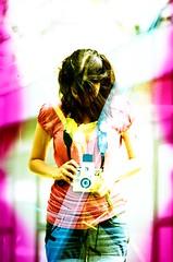 (iugmoura) Tags: clara camera pink light portrait color tlr film yellow 35mm holga hands exposure bc cross pentax k1000 kodak maria seesaw slide double chrome 100 positive leak ektachrome processed e100vs overlap gangorra bastos