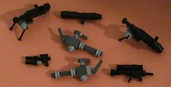 Pffft, who needs Brickarms? (Brickcentral) Tags: star call gun lego duty barrel halo mini double chain sniper pistol guns rocket wars custom minigun launcher brickarms