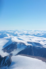 glaciers surrounding Mount Qiajivik (T.Cochrane) Tags: baffin island pond inlet aviation