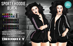 !NFINITY Sporty Hoodie - BLACK (infinity.owner) Tags: buynowsl buy now sl second life october nfinity sporty hoodie mesh apparel women woman female belleza maitreya slink physique hourglass venus isis freya avatar monthly