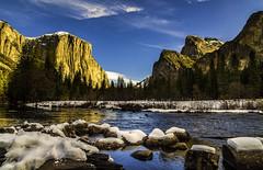Yosemite Valley View... (Simon Huynh) Tags: yosemitenationalpark snow river mercedriver rock anseladams waterfall