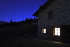 NOTTE IN BAITA.. (lupus alberto) Tags: valvezzola notturno armonia montagna baita pace