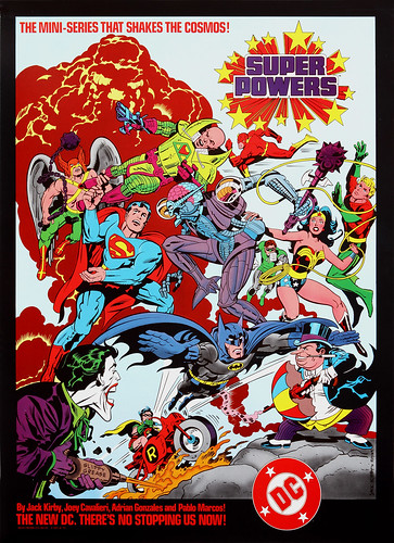 DC Comics promotional poster - Super Powers - 1984
