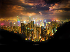 The Worlds Most Beautiful Skyline (Tomasito.!) Tags: world ocean china city nightphotography trees girls sea sky urban panorama music mountain black art love apple nature water beautiful night clouds photoshop buildings river dark painting macintosh landscape fire hongkong lights 1 yahoo google interesting artwork mac nikon asia flickr neon