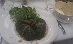 Pigeon breast and foie gras, wrapped in cabbage. (Julian) Tags: