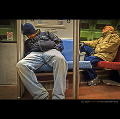 Priority Sleeping [R1011684] (digital_don) Tags: street subway washingtondc metro sleep candid passengers commute dcist grd3 riicoh january2011 r1011684