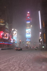 Times Square NYC covered in white snow (RYANISLAND) Tags: nyc newyorkcity winter snow ny newyork cold weather snowstorm broadway timessquare snowing whitesnow blizzard coldweather winterwonderland extremeweather noreaster 212 10036 snowblizzard timessquarenewyork timessquarenyc timessquarenewyorkcity timessquareny areacode212 zipcode10036 blizzardof2011 wwwtimessquarenycorg