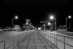 Richmond, VA (mikediazphotography) Tags: thanksgiving street bridge bw white black monochrome skyline night canon mono coast virginia richmond east va 9th 2010 silverefex 5dmkii