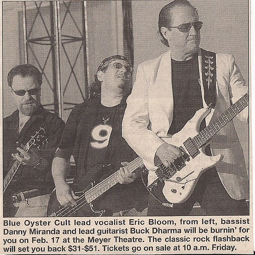 02/17/06 Blue Oyster Cult @ Green Bay, WI (Newspaper Blurb)