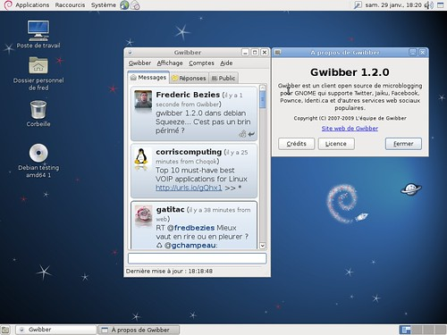 Gwibber 1.2.0 et Debian Squeeze