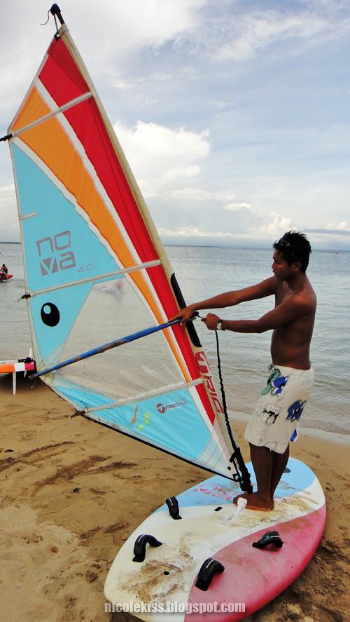 lifting up the sail