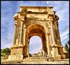 The Arch of Septimius Severus ! (Bashar Shglila) Tags: red arch roman sony balloon libya magna libyan severus leptis لين اثار septimius ليبيا قوس platinumheartaward الكبرى redynamix رومانية لبدة الخمس hx1 سبتيموس سيفيروس mygearandme mygearandmepremium