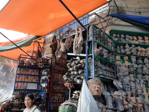 Stall at the Witches Market in View of La Paz, Bolivia