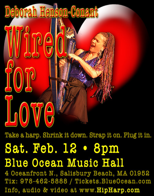 Wired for Love 2011 - Web Flyer for Show by HipHarpist