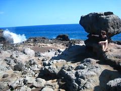 """""""Hey, there goes the blowhole!"""" (jkerssen) Tags: hawaii maui jk nakaleleblowhole westmaui"""